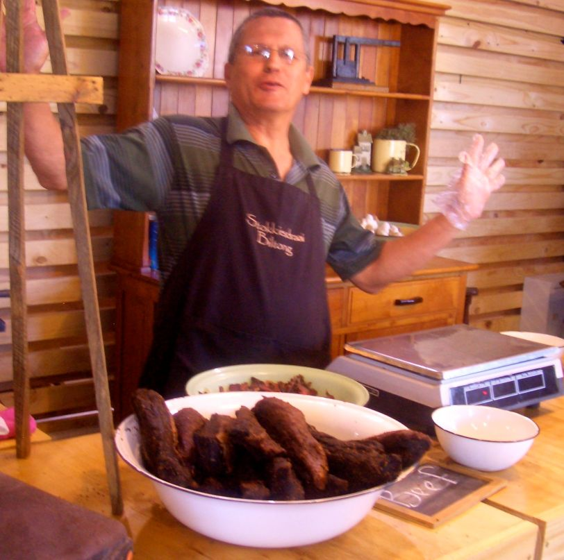 A local speciality, the most delicious tasting biltong