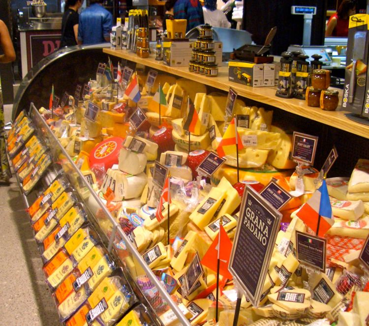 Choose from cheeses from around the world