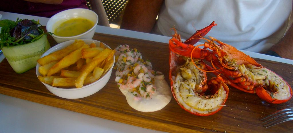 One of the day's specials, amazing freshwater crayfish