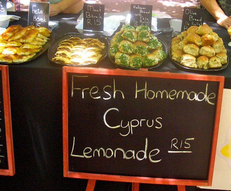 Amazing delicate pastries and Cyprus lemonade
