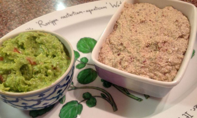 A close up of the pate and another of my favourite dishes, home made guacamole