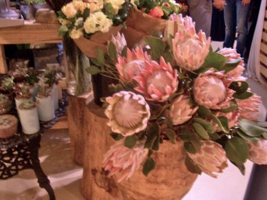 There's even a flower stall, who can resist these beautiful proteas?