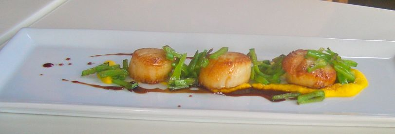 The vegetarian version of the scallop dish