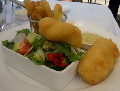 A truly superior fish and chip dish