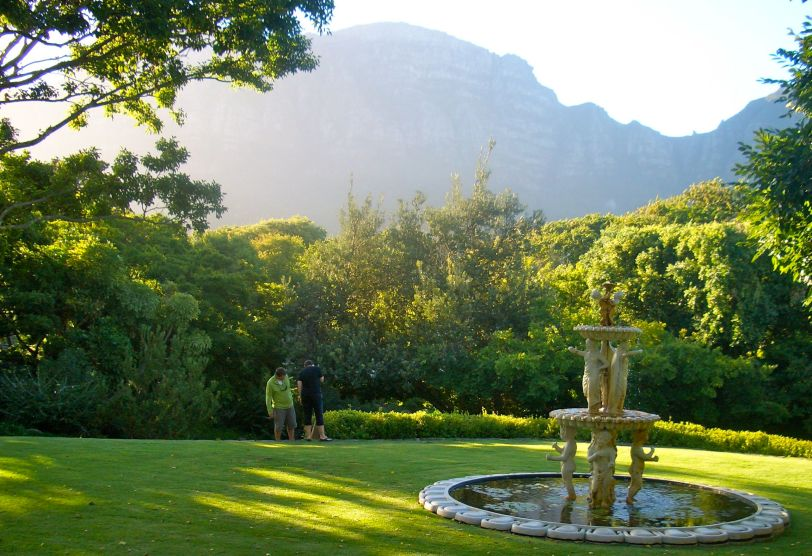 The view from the garden at the Vineyard Hotel