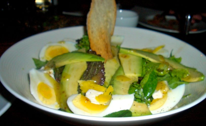 Kloof Street salad of avo, feta and boiled egg with a honey mustard dressing