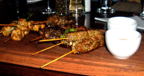 Kingklip and chicken skewers and lamb koftas