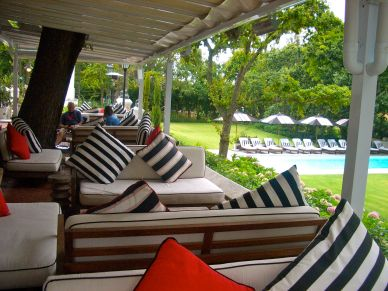 Comfy sofas and beautiful gardens at The Rose Bar