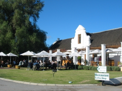 The classic wine tasting centre and restaurant at Bon Courage