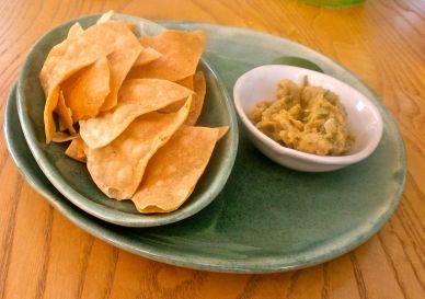 Tortillas and freshly made hummus