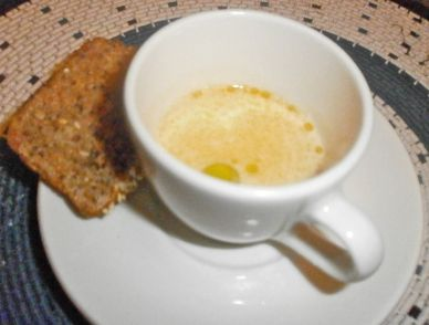 The amuse bouche was a silky smoked salmon veloute