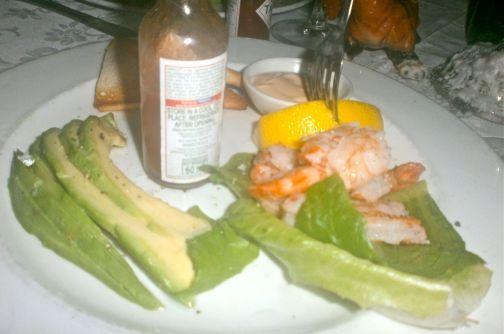Deconstructed avocado Ritz...novel and yummy