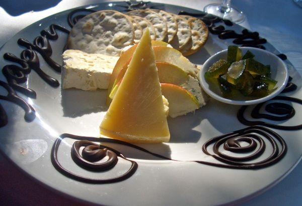 A selection of local and imported cheeses