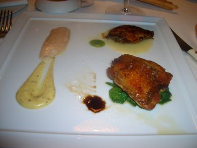 A fabulous plate of guinea hen cooked different ways