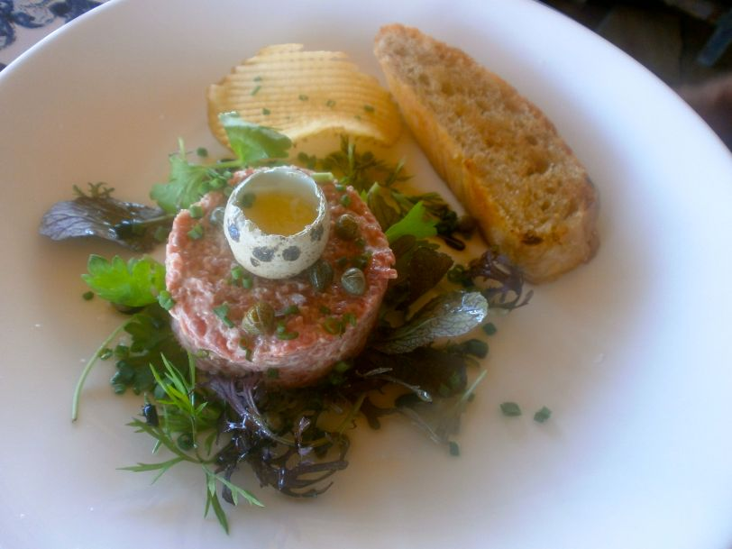 Luscious beef tartare with plenty of capers