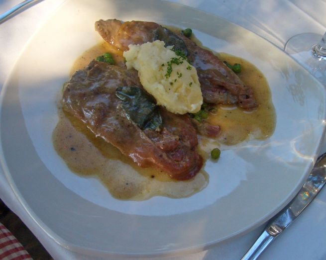 Veal saltimbocca alla Romana: Tender veal escalopes with parma ham and sage