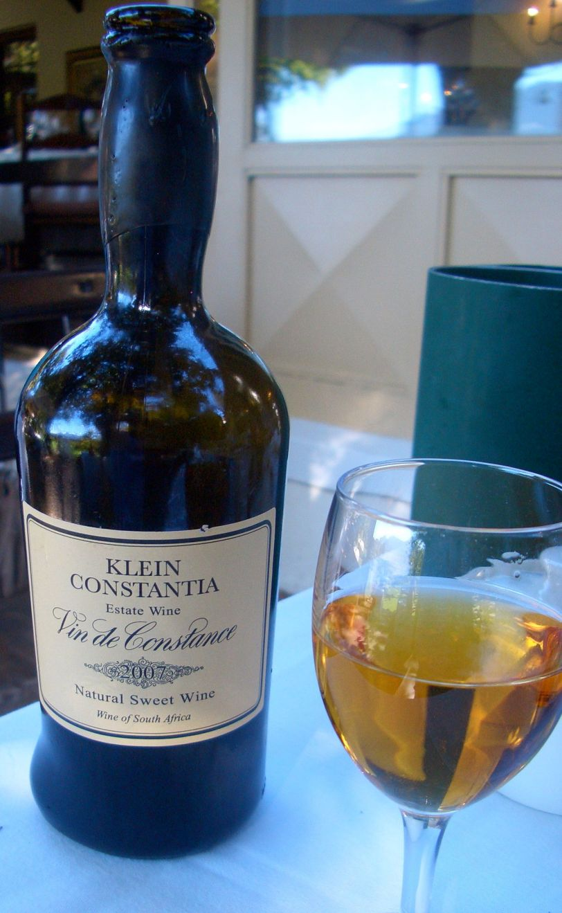 The stunning Vin de Constance produced just down the road