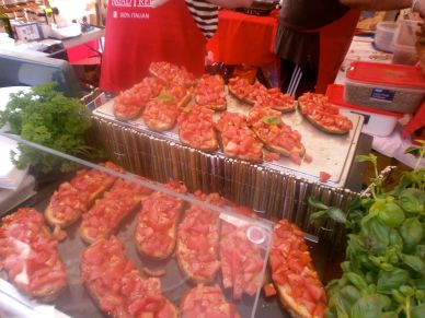 A stall that's guaranteed to get your mouth watering – stunning bruschetta