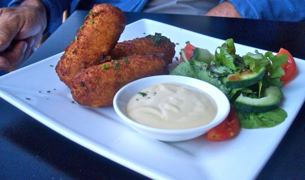 Chicken and herb croquettes