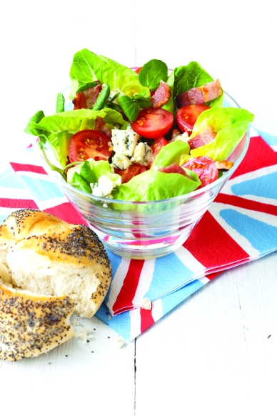 Red, white and blue cheese salad