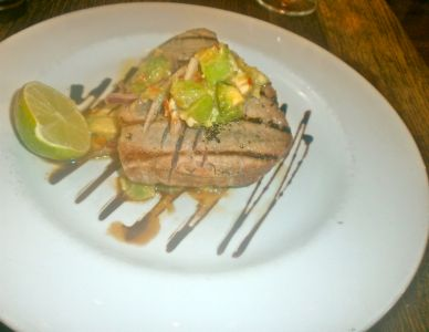 Blue tuna with plenty of avocado...heaven