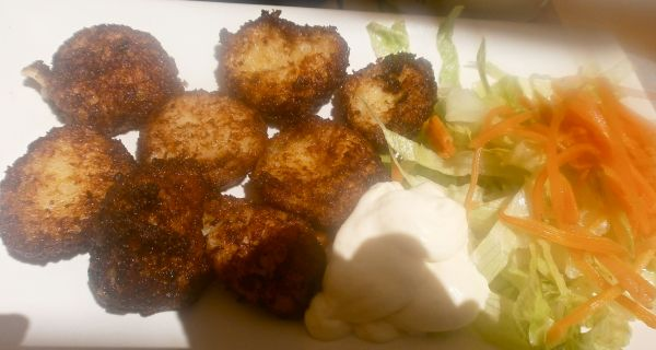 Cod fritters – hot, crisp and melt-in-the-mouth