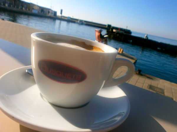 Start the day with coffee overlooking the harbour