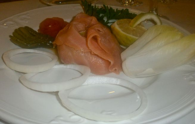 Smoked salmon with plenty of goodies