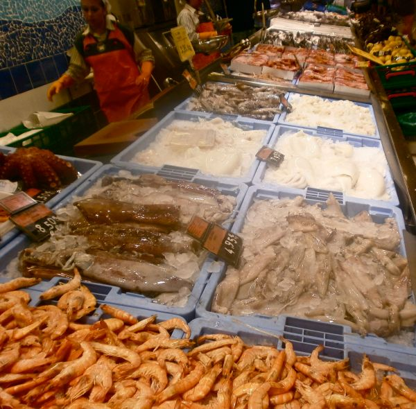 The fish counter in the local supermarket