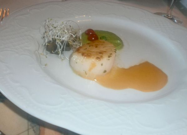 One of several amazing scallop starters I enjoyed