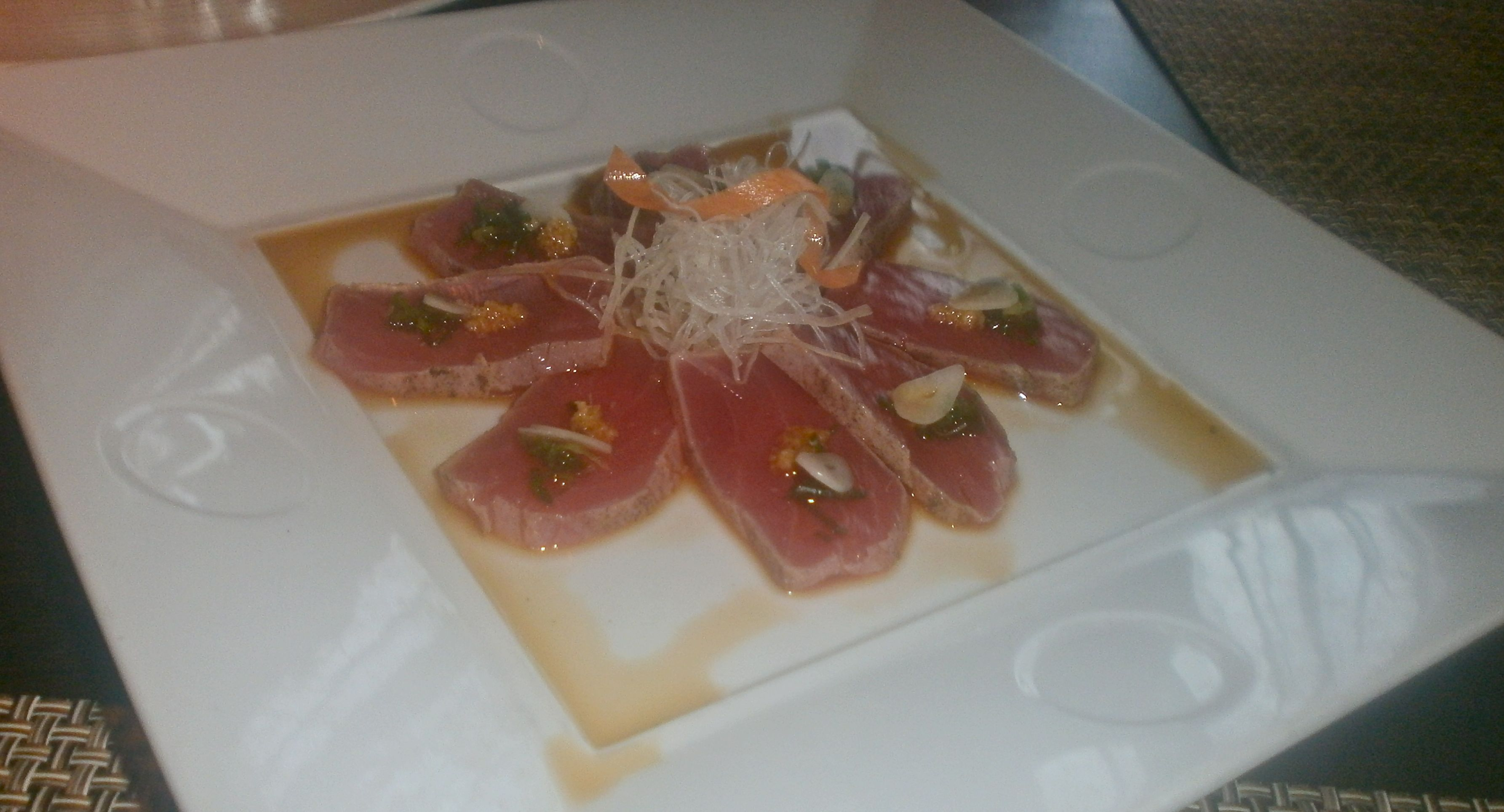 Amazing seared tuna Nobu-style