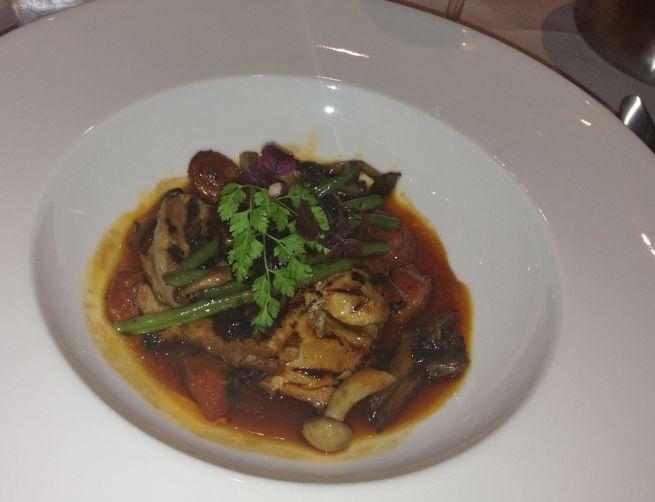 Chicken with chorizo and wild mushrooms