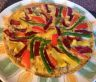 The colourfully tasty frittata after griling