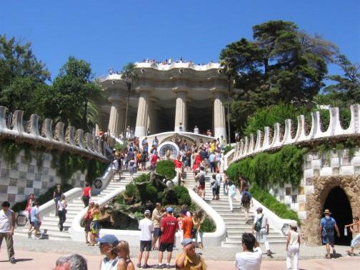 Park Guella in Barcelona, designed by Gaudi
