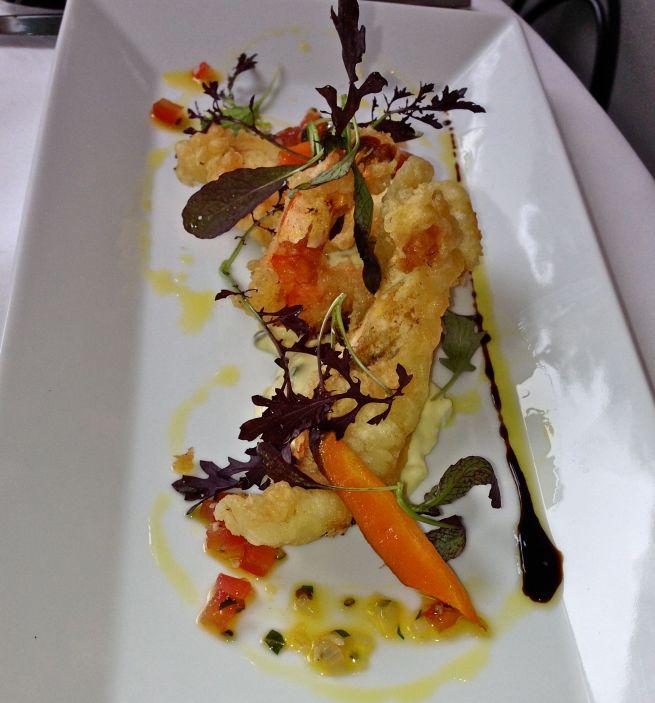 prawn and plaice tempura