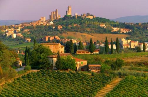 The Mozzarella Diaries are set in Tuscany