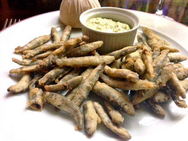 Beautifully crisp, fishy whitebait