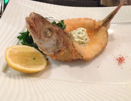 A typical Parisian dish the whiting may look a bit weird but it tastes amazing