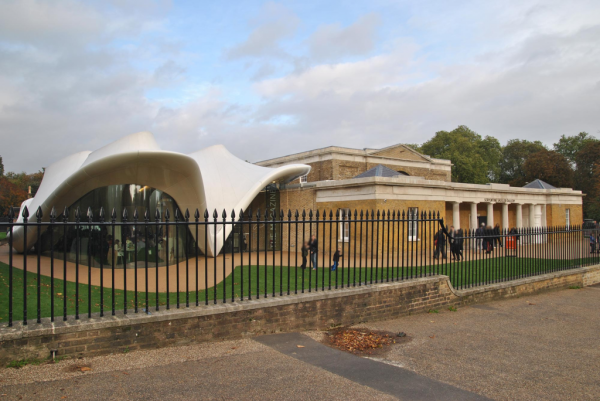 The Magazine restaurant and bar is attached to the Sackler Serpentine Gallery
