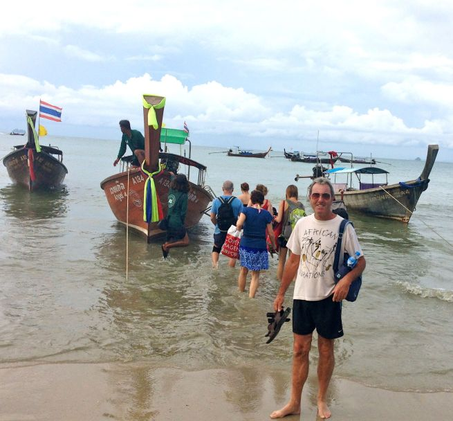 All aboard the long-tailed boat from Ao Nang