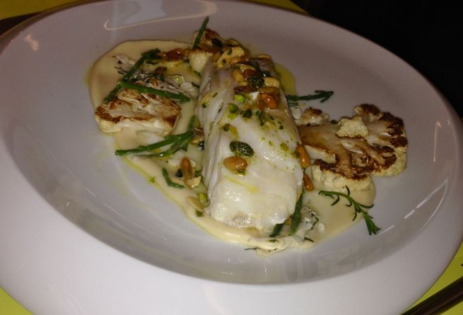 Cod with cauliflower and ocean herbs
