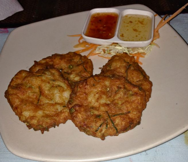 The fishcakes were delicate, tasty and piping hot