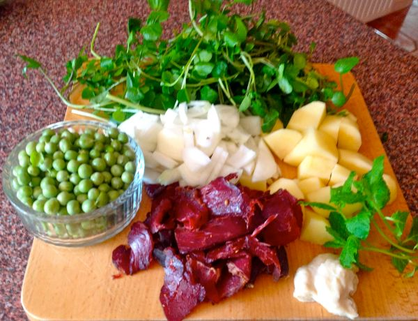 All the tasty ingredients ready to go