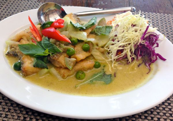 My Thai green fish curry