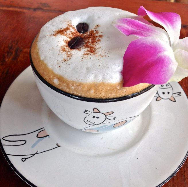 Even the coffee's beautiful in Railay