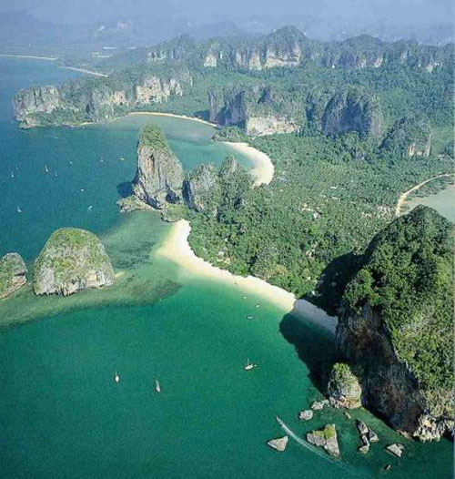 Beautiful Railay from the air
